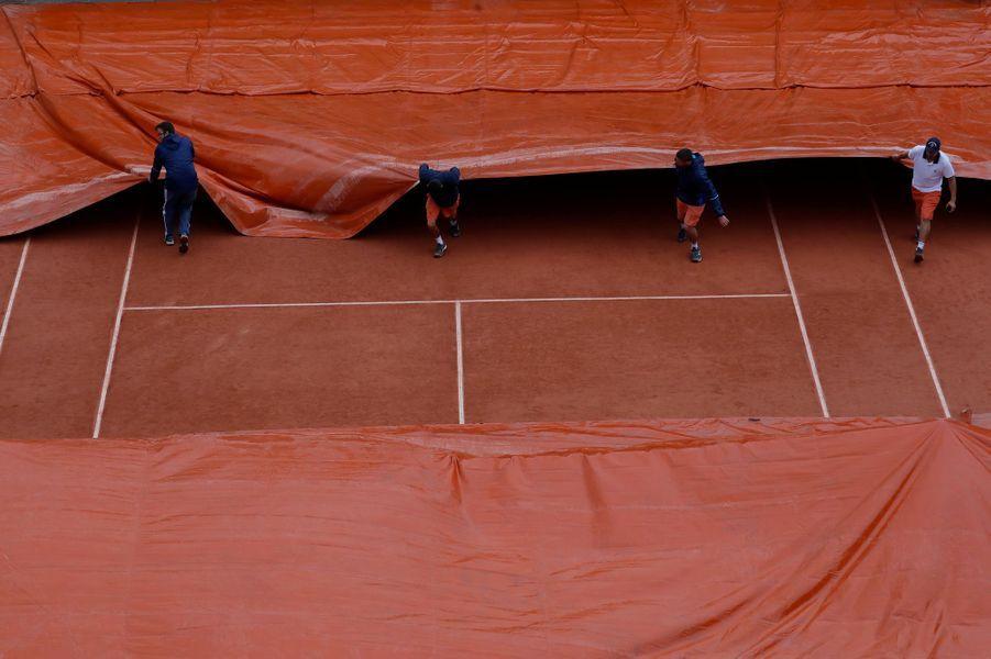 La pluie à Roland-Garros, le 3 juin 2017.