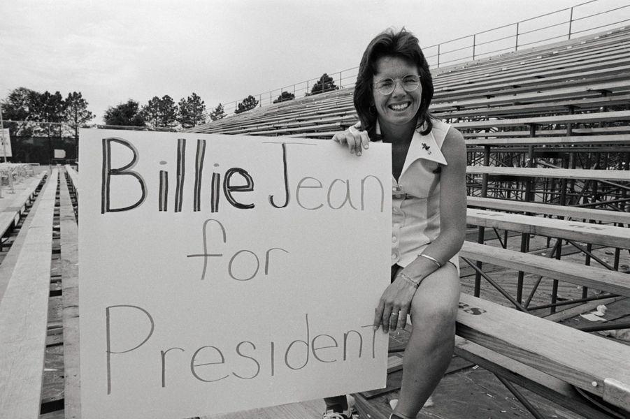 Billie Jean King, en août 1973.
