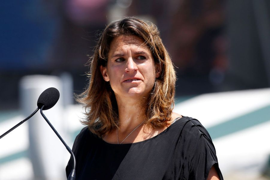 Amélie Mauresmo aux Etats-Unis