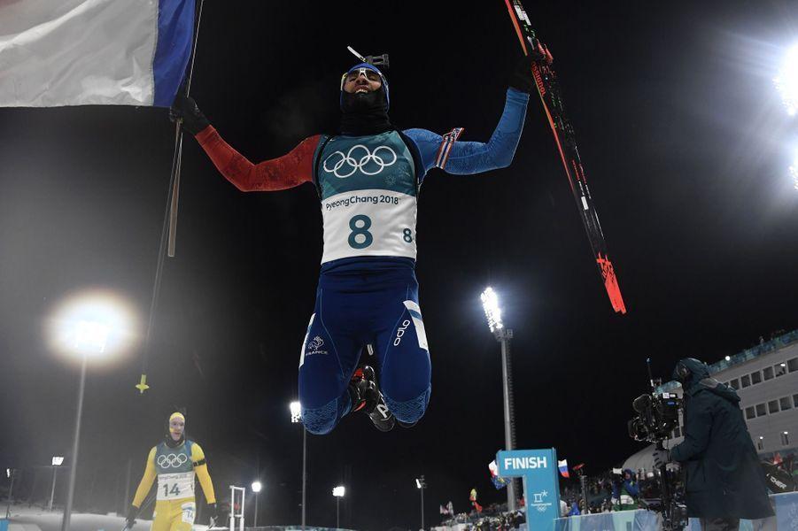 Martin Fourcade a remporté l'or en poursuite.