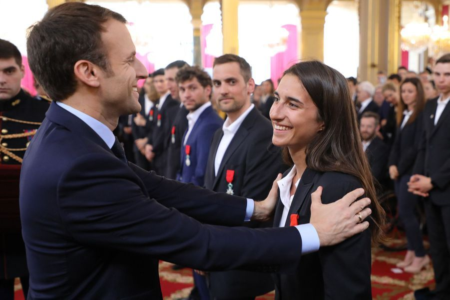 Emmanuel Macron et Perrine Laffot