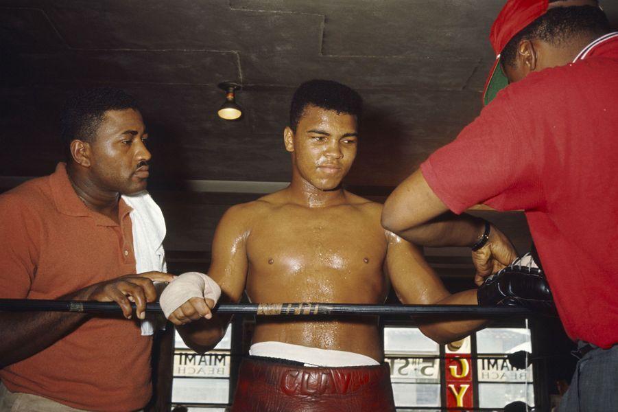 Mohamed Ali à l'entraînement en 1964