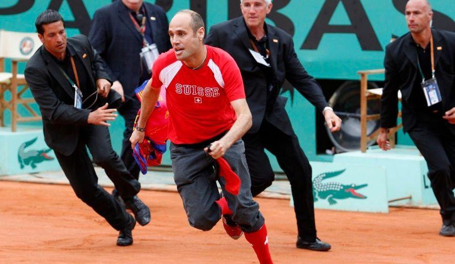 Ce supporter du Barça n'est pas parvenu à déstabiliser un Roger Federer déterminé à remporter cette finale de Roland-Garros.