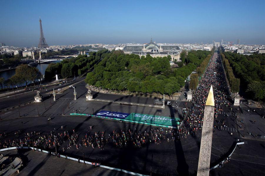 Les participants au marathon de Paris