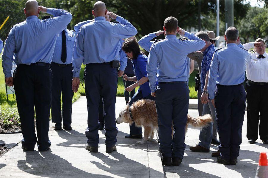 Bretagne, le dernier chien de recherche survivant du 11-Septembre, a été euthanasiée lundi à Cypress, au Texas.