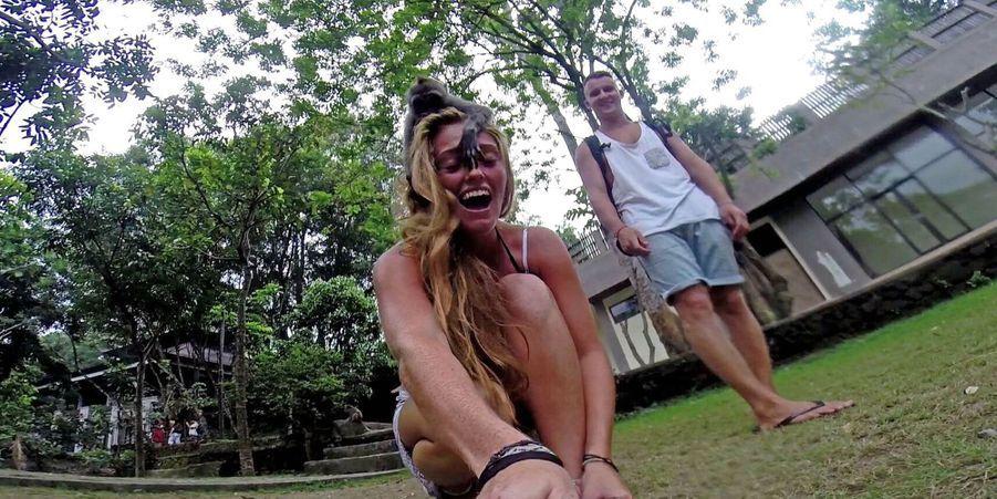 Le selfie du petit macaque