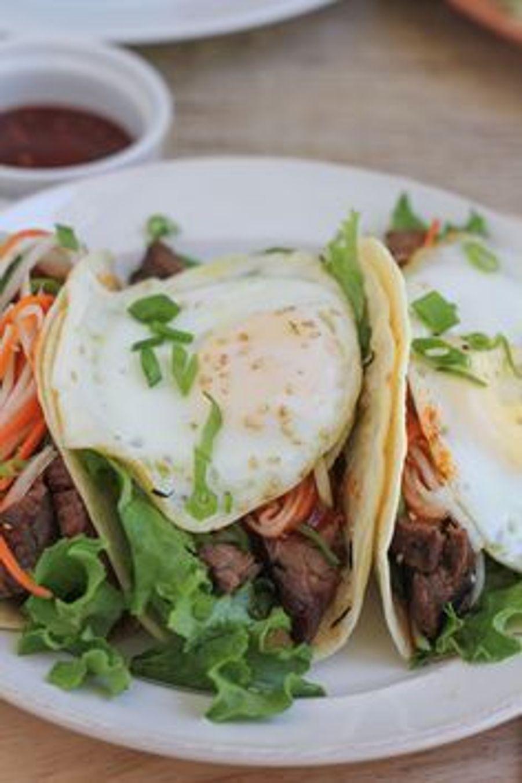 Tacos Bibimbap - voir l'épingle