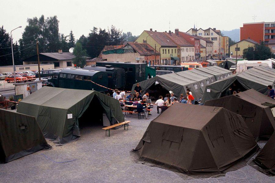 Camp de réfugiés à Passau, Autriche