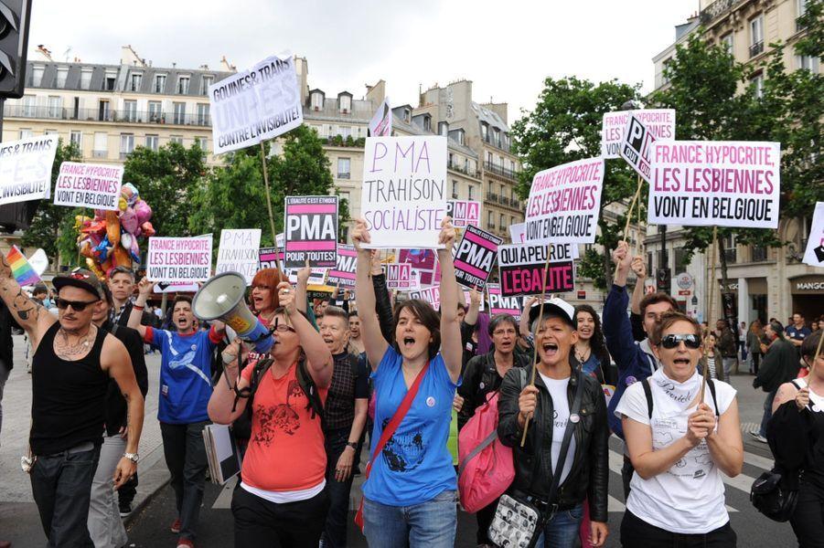 A Paris, la gay pride célèbre le mariage pour tous