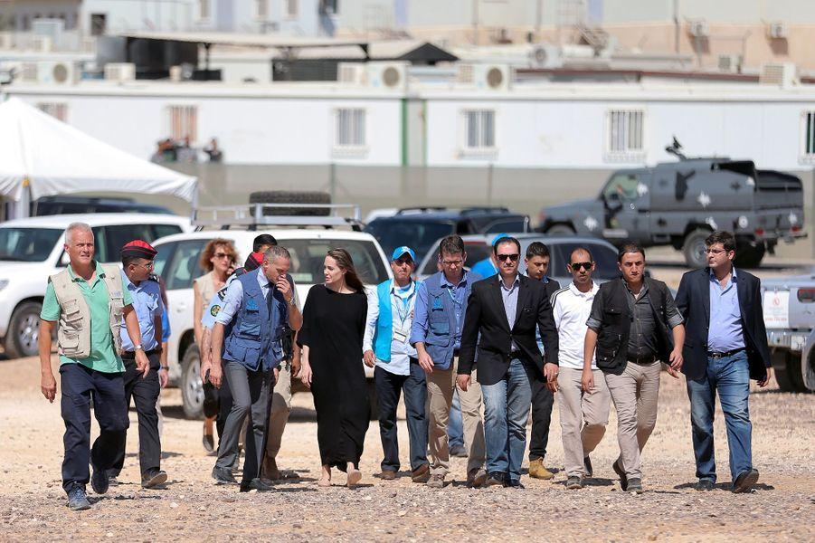 Angelina Jolie a tenu un discours pour faire état de la situation des réfugiés bloqués à la frontière avec la Syrie