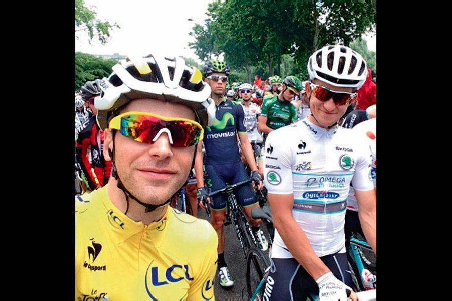 Tony Gallopin. Selfie. Tour de France.