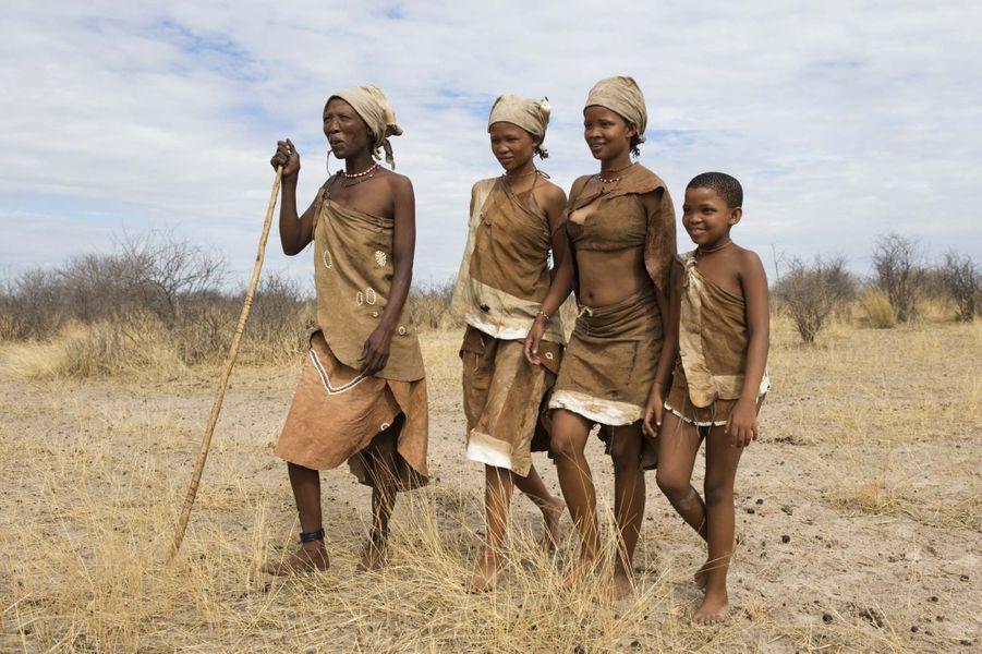 Un groupe de botswanais