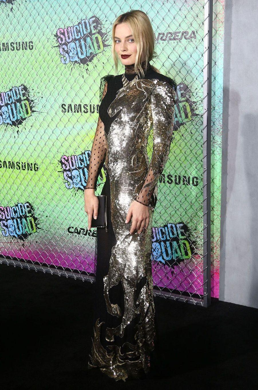 """Margot Robbie à l'avant-première de """"Suicide Squad"""" à New York"""