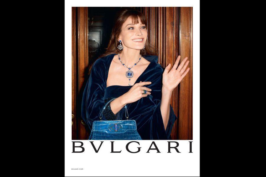 Carla Bruni prend la pose pour Bulgari