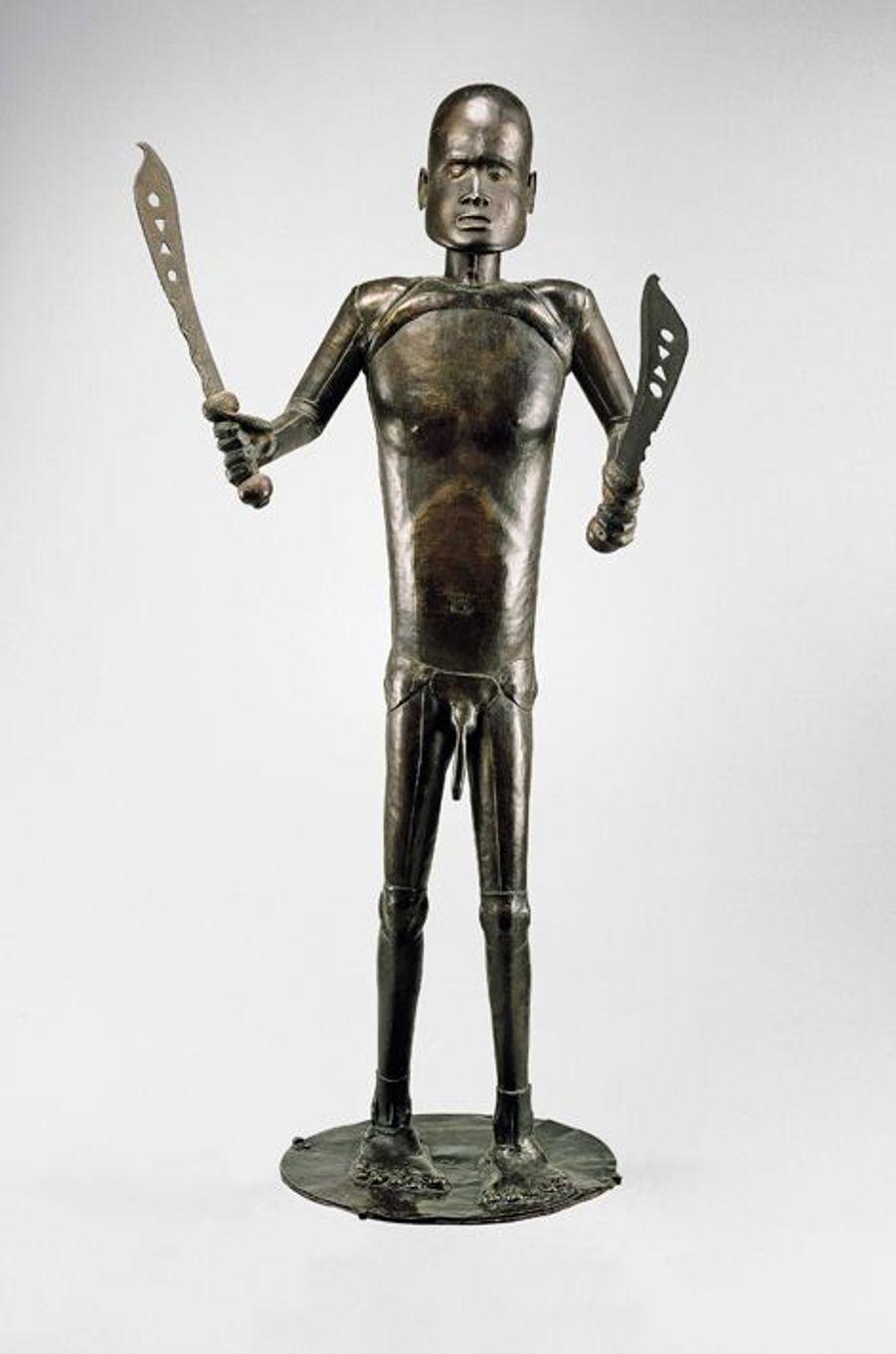 Statue représentant le roi Glèlè - fon (Royaume du Danhomé - République du Bénin)