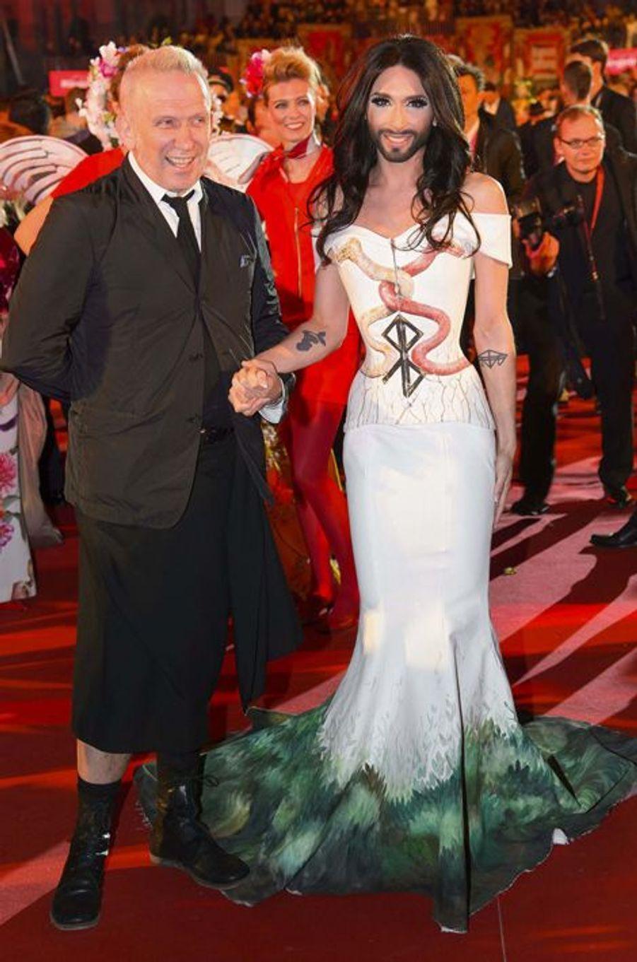 Jean Paul Gaultier et Conchita Wurst