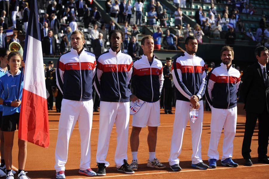 L'équipe française de Coupe Davis