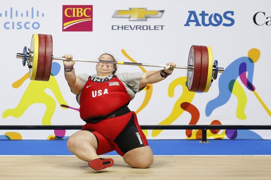 Coulisses, à-côtés, images surprenantes, Paris Match vous propose de découvrir le meilleur de l'actualité sportive de la semaine du 13 au 18 juillet.Ici, l'athlète américaine Holley Mangold en souffrance lors d'une épreuve d'haltérophilie, catégorie + de 75 kg, aux Pan Am Games de Toronto.