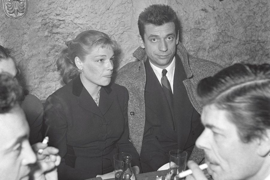 Paris, printemps 1951  les caves du Club Saint,Germain. Parmi les habitués