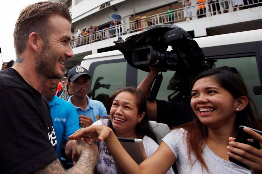 David Beckham, champion du cœur aux Philippines