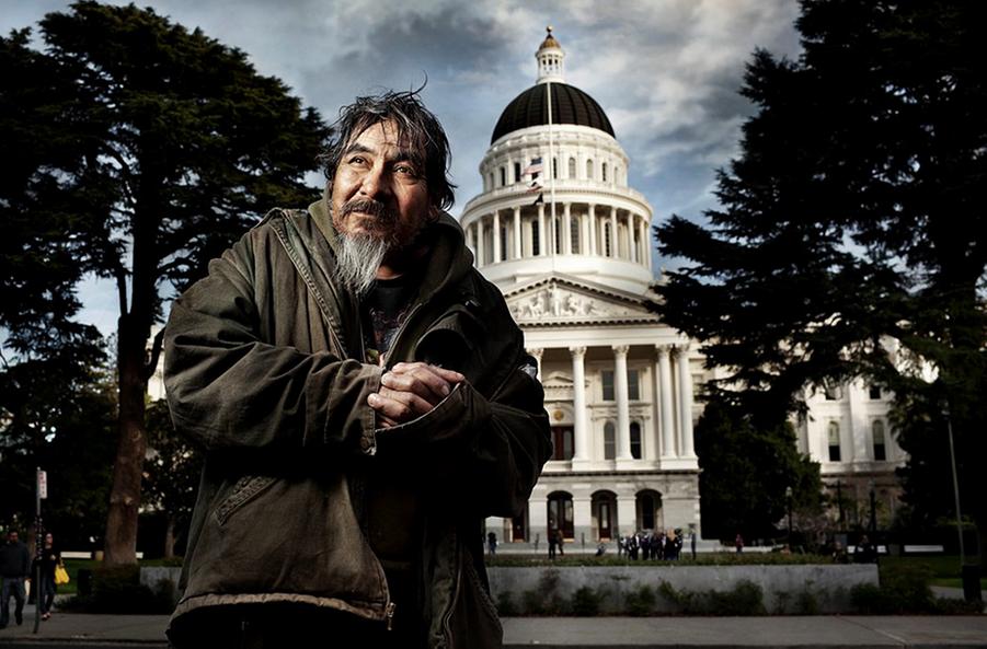 Des sans-abris Californiens...