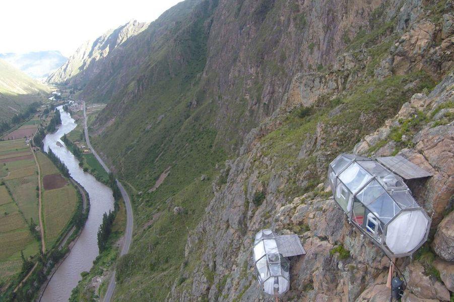 Les capsules Skylodge se trouvent à 400 mètres de hauteur.