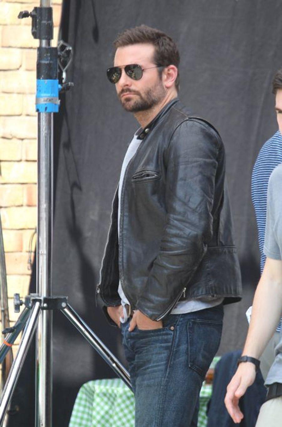 Bradley Cooper en tournage à Londres, le 30 juillet 2014