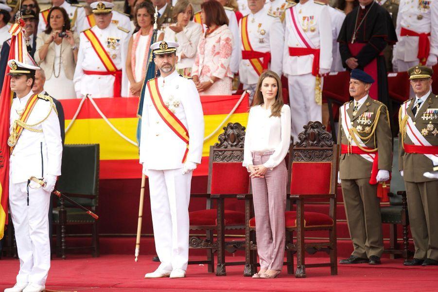 Le prince Felipe de retour dans son Ecole navale