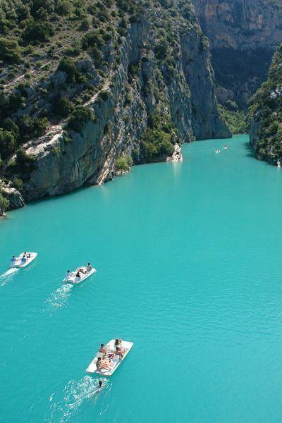 Le lac de Sainte Croix, Alpes-de-Haute-Provence, gorges du Verdon - voir l'épingle