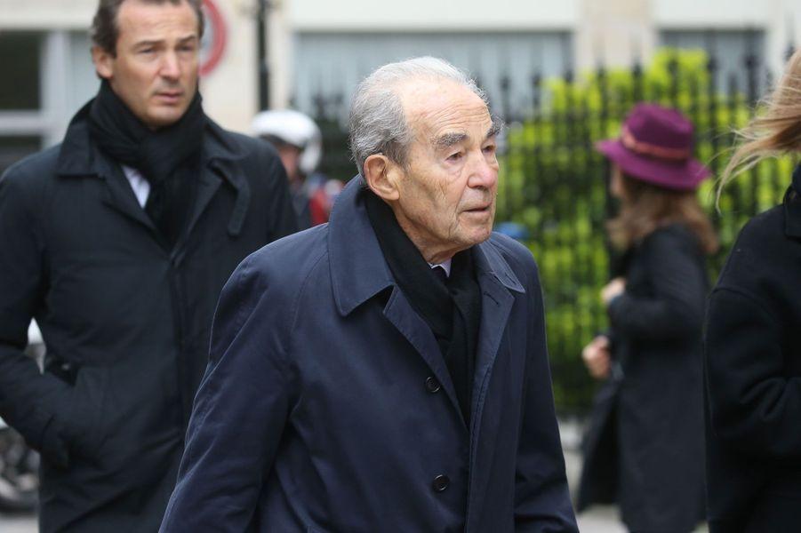 Robert Badinter aux obsèques d'André Rousselet, juin 2016