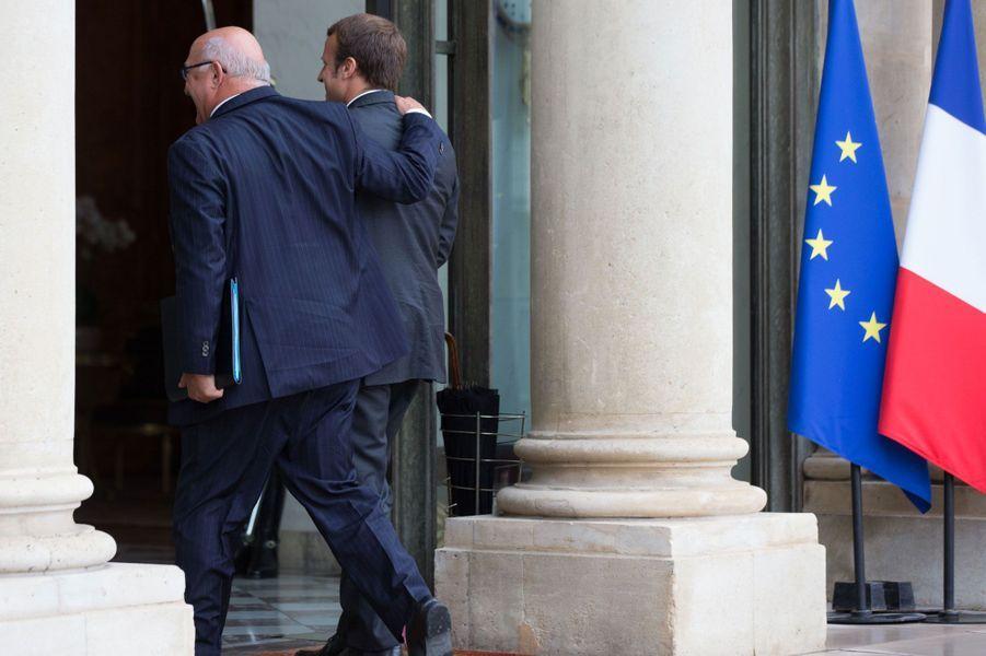 Michel Sapin et Emmanuel Macron
