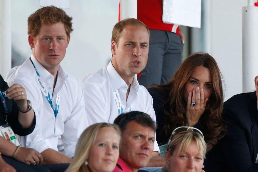 Kate, William et Harry se prennent aux Jeux
