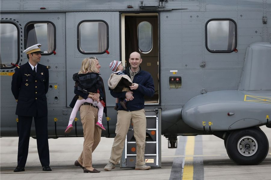 L'arrivée des ex-otages en images