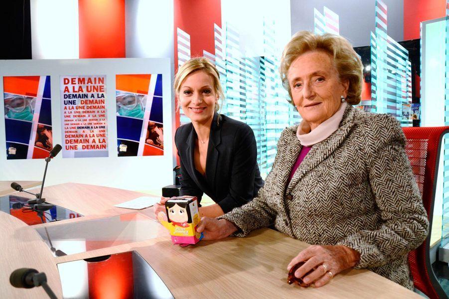 """Avec l'ex-Premiere Dame de France Bernadette Chirac dans """"Demain à la Une"""""""