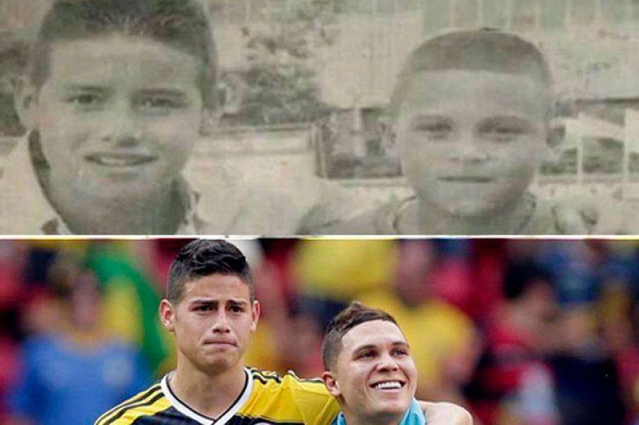 Les Colombiens Quintero et James Rodriguez se connaissent depuis leur enfance
