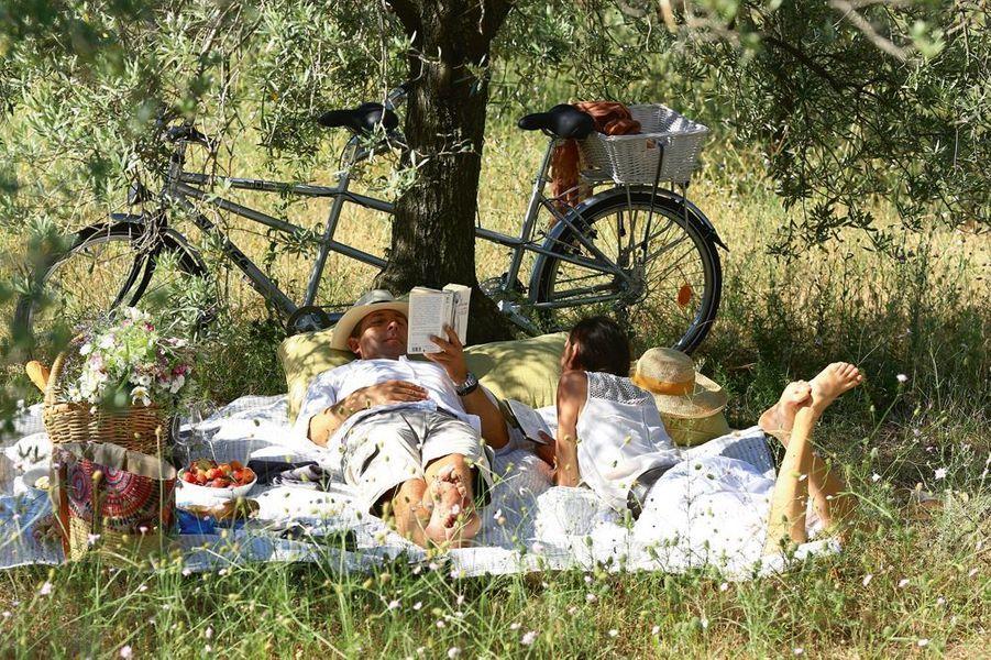 Camille Moirenc. Sieste sous les oliviers. Crillon-le-Brave.