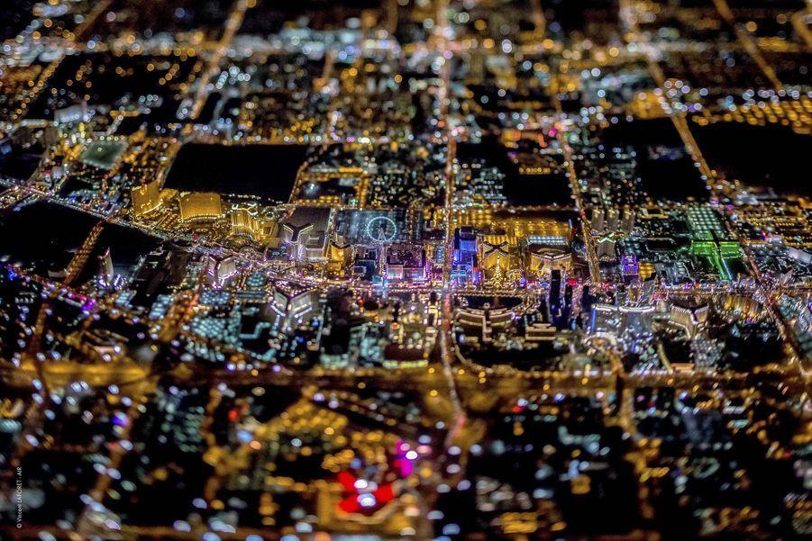 La ville américaine depuis un hélicoptère