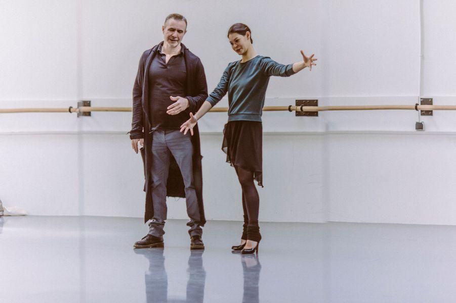 Marion Barbeau et Stéphane Bullion en répétition au Foyer de la danse