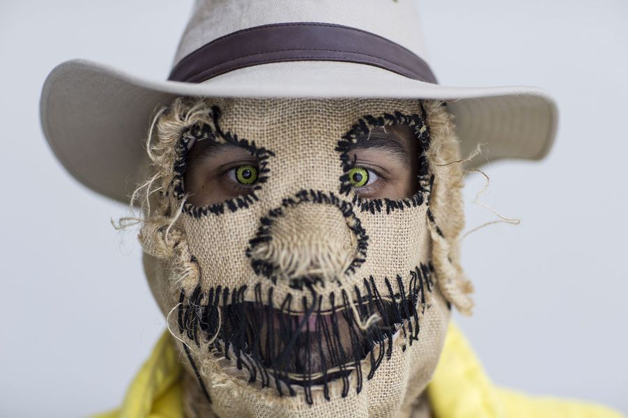 Un cosplay de Scarecrow, du comic Batman.