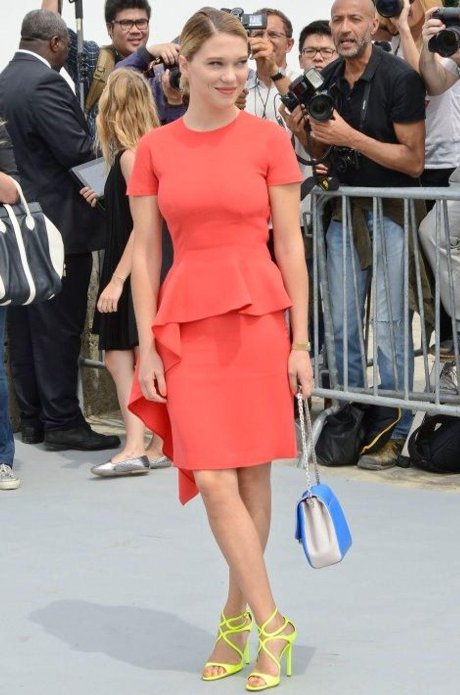 Au défilé Dior, en juillet dernier