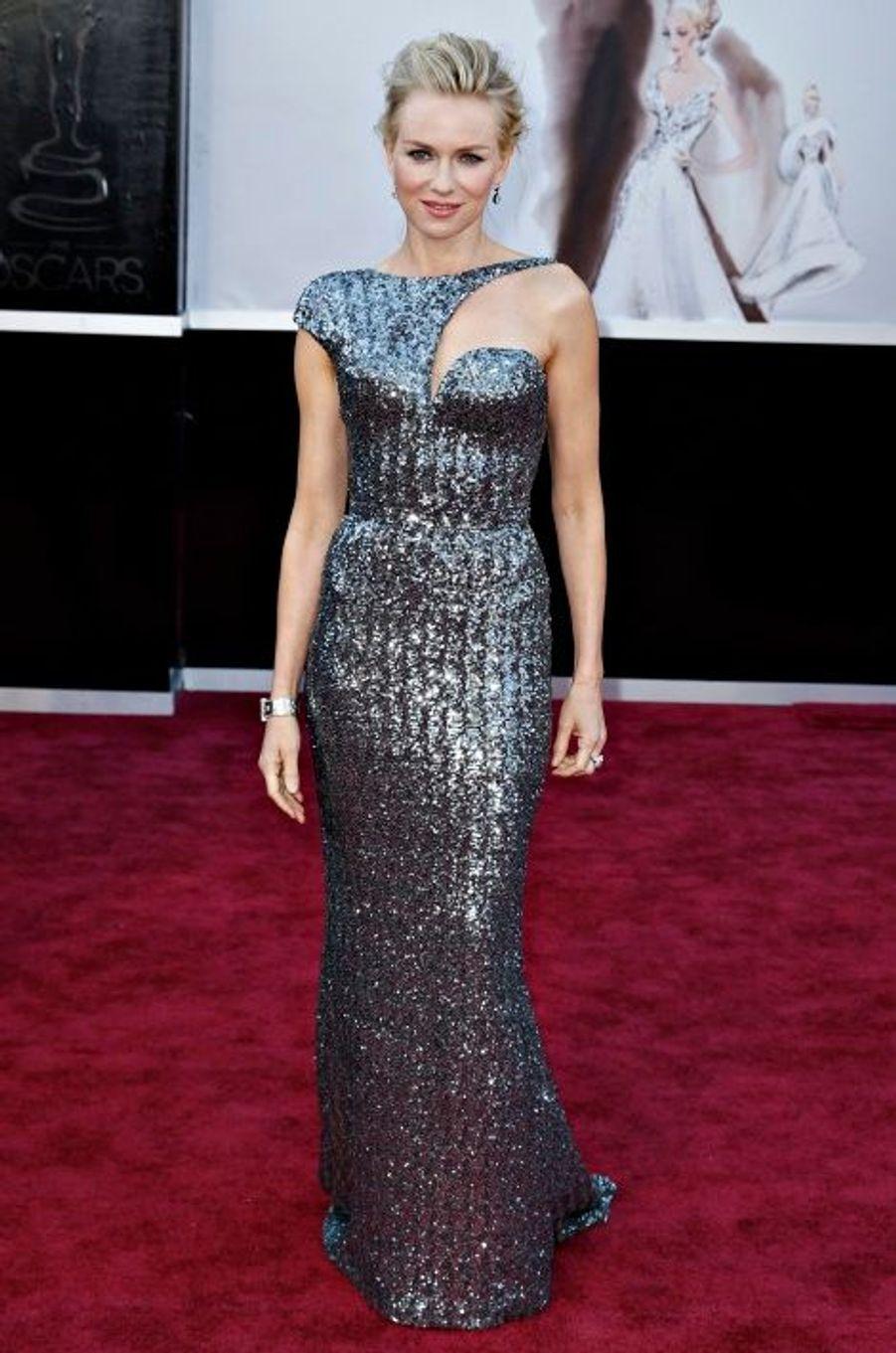 En Armani Privé aux Oscars 2013