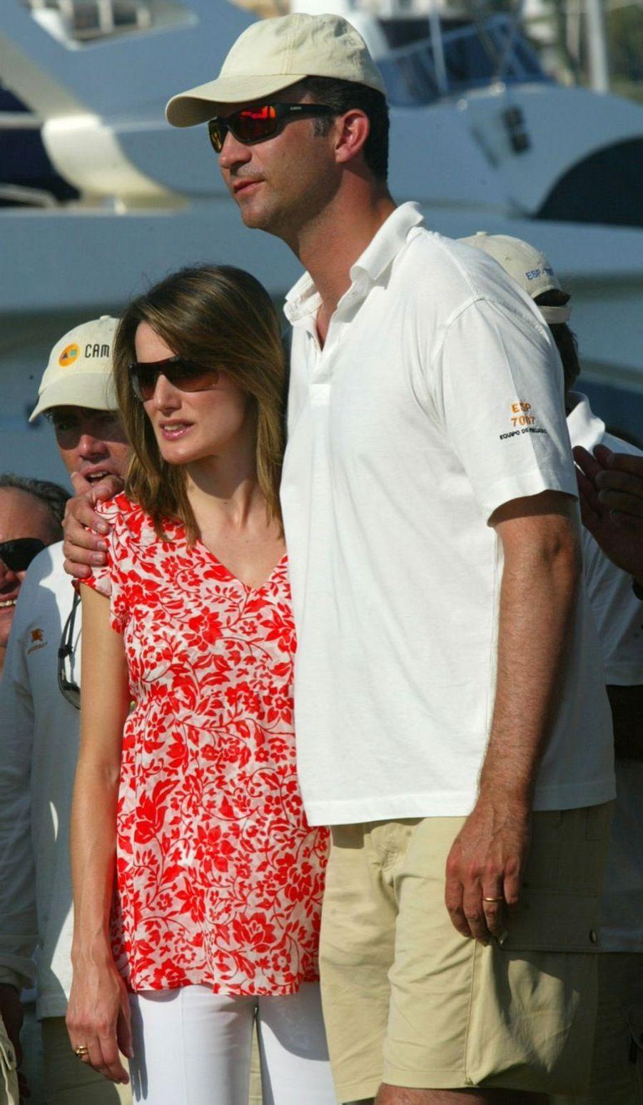 En 2005, Letizia est enceinte