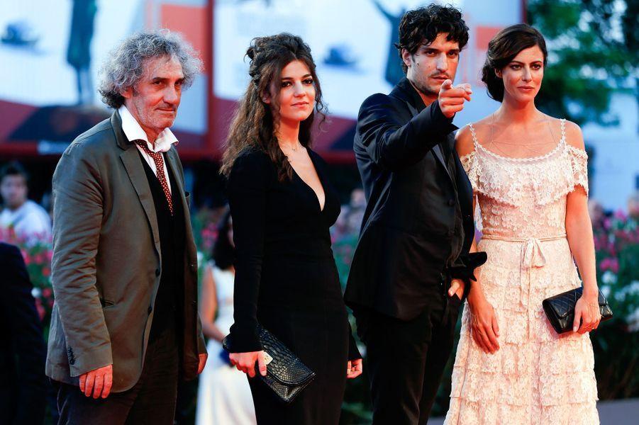 """Philippe Garrel avec ses enfants Louis et Esther, avec Anna Mouglalis pour """"La Jalousie"""""""