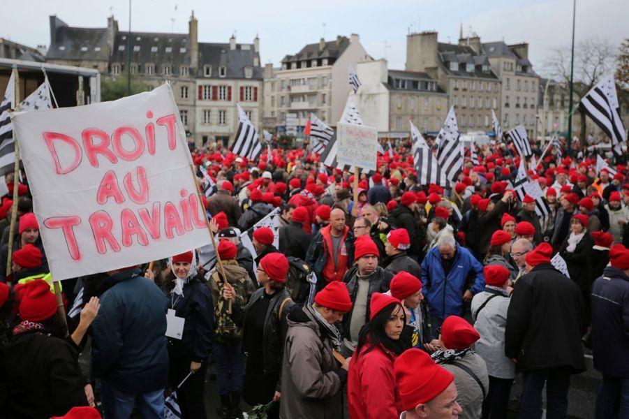 Manifestation mouvementée à Quimper