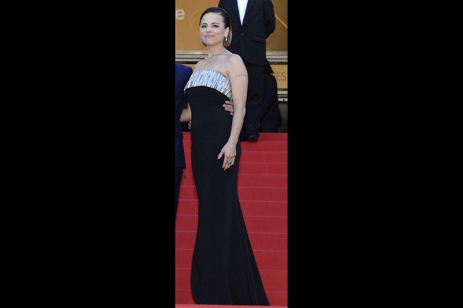Suzanne Clément en Maxime Simoëns lors du Festival de Cannes 2014