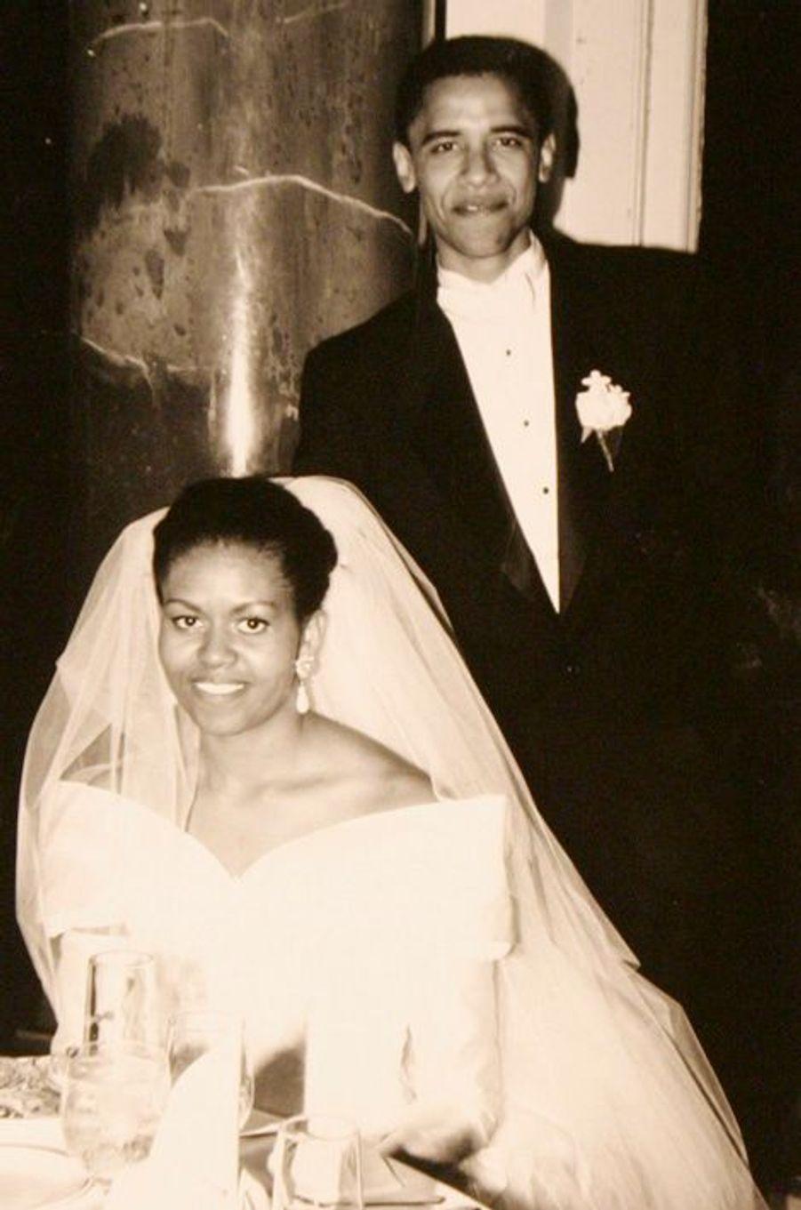 18 octobre 1982 : mariage avec Barack Obama