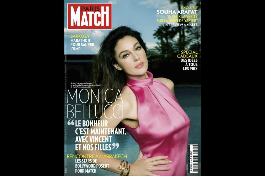 Monica Bellucci en couverture du Paris Match n° 3316 du 5 décembre 2012