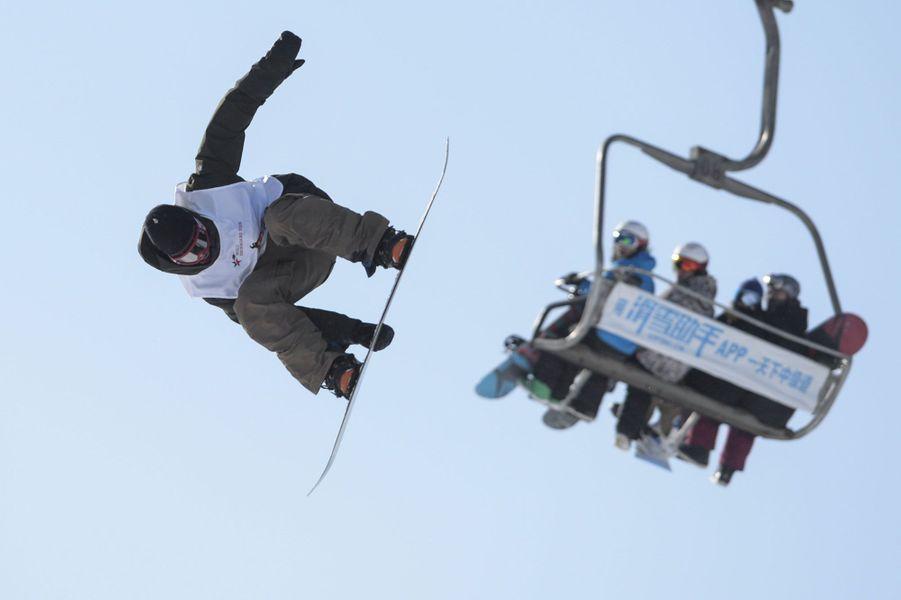 Compétition de snowboard à Pékin.