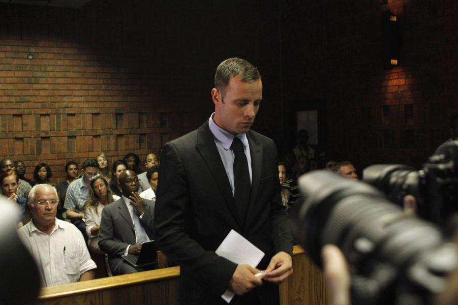Oscar Pistorius au tribunal de Pretoria, le 20 février 2013