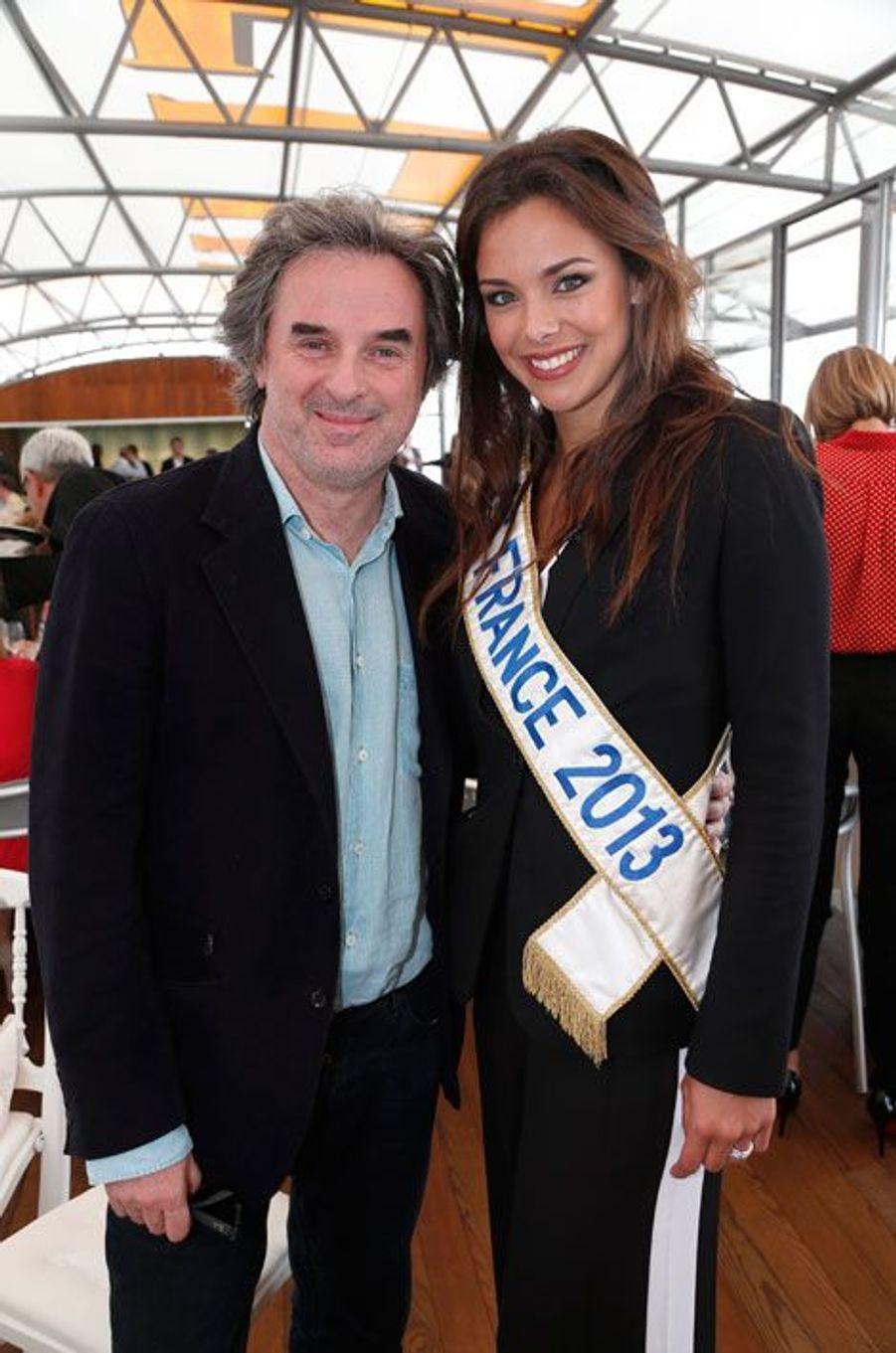 Jean-Christophe Grangé et Marine Lorphelin, Miss France 2013.